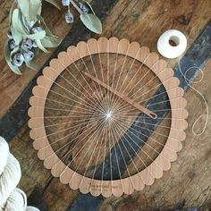 Large Round Bamboo Weaving Loom