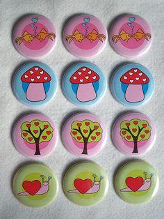 Valentine's buttons