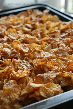French Toast Casserole with Salted Frosted Flakes