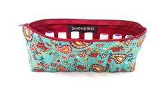 NEW Teal and Red Paisley Essential Oils Travel Case by SewNowWat, $25.99