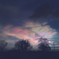 Nacreous/Polar Stratospheric Clouds North Yorkshire February 2016 - Photo by Rachel Mackin