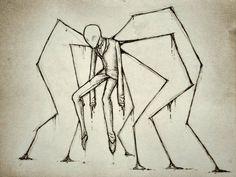 A Very Slender Man by Eighth-Reaper on DeviantArt Creepy Drawings, Dark Art Drawings, Pencil Art Drawings, Art Drawings Sketches, Easy But Cool Drawings, Tattoo Drawings, Tattoos, Horror Drawing, Horror Art
