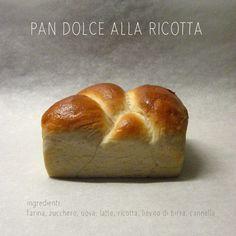 Pan dolce alla ricotta e cannella.