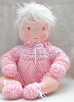 Anais is a Waldorf girl baby doll,she is all hand made,stitch by stitch. $120.00, via Etsy.