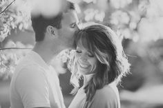 © Anna Lee Media | Oklahoma Engagement Photographer, tree, backlight, couple pose