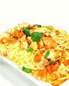Spicy Lobster with Linguini, Recipe from The Martha Stewart Show, September 2010