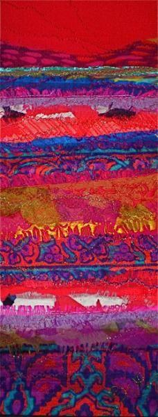 sue wademan fabric collage landscape