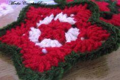 Minha Casinha Rosa: Flor Natalina em crochê