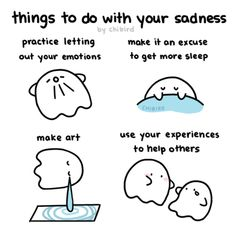 It's hard to do anything when you're sad. But I like to think that going through sadness can help you in little ways too, like being able to understand others better when they're sad. Feeling Sad, How Are You Feeling, Bad Day Quotes, Hug Gif, Mental Help, Thank You As Always, Chibird, Broken Words, Everything Will Be Alright