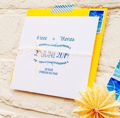 Beach wedding save-the-date | Mino Paper Sweets