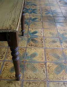 Tabarka Tile - Beautiful for an inlaid rug by the front door Decor, Style Tile, Beautiful Tile, Tabarka Tile, Decorative Floor Tile, Tiles, Flooring, Mosaic, Floor Decor