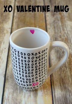 XO Valentine Mug - One Artsy Mama