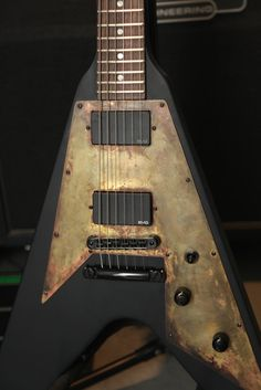 Gibson Rusty Flying V Inspired By Metallica Emg Pickups