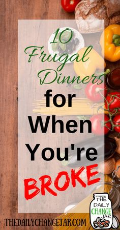Food makes up a lot of our budgets. But what do you do when money is really tight? Here are 10 frugal meals to make when you're broke. frugal meals, frugal meals healthy, frugal meals for four, frugal Meals For Four, Large Family Meals, Cheap Meals For Two, Super Cheap Meals, Cheap Family Meals, Cheap Dinner Ideas, Meal Ideas For Dinner, Extremely Cheap Meals, Dirt Cheap Meals