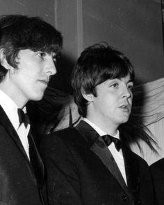 1965 - George Harrison and Paul McCartney.