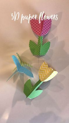 New flowers spring crafts diy paper ideas Kids Crafts, Easter Crafts, Diy And Crafts, Craft Projects, Arts And Crafts, Simple Crafts, Simple Diy, Creative Crafts, 3d Paper Flowers