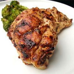 Sweet Hot Mustard Chicken Thighs Allrecipes.com