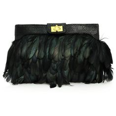 ASOS Iridescent Feather Clutch (170 RON) ❤ liked on Polyvore featuring bags, handbags, clutches, purses, accessories, feathers, access, women, feather handbag and asos clutches