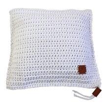 Ručně háčkovaný polštář 026 bílý 50x50 cm