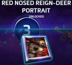 red nosed reign-deer portrait