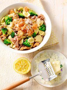 Orecchiettes au jambon, au chou-fleur et au brocoli