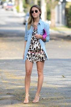 Glam4You por Nati Vozza | Meu look: Onça, Pink & Jeans