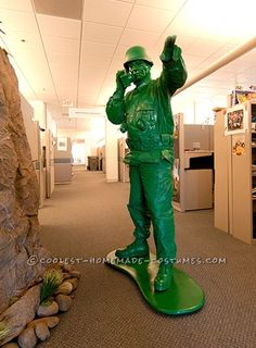 Awesome Homemade Little Green Plastic Army Man Costume