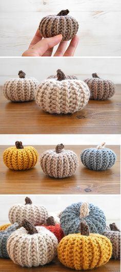 Crochet Pumpkins that look knit