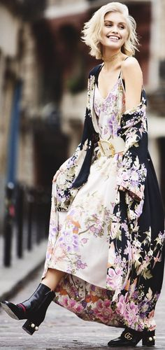My Top Street Fashion Styles Floral Fashion, Love Fashion, Vintage Fashion, Womens Fashion, Fashion Design, Fashion Trends, Street Outfit, All About Fashion, Dress To Impress