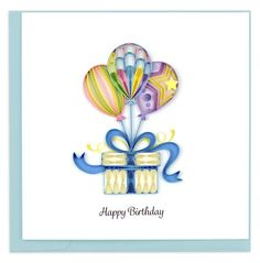 Quilling Birthday Cards, Paper Quilling Cards, Paper Quilling Patterns, Handmade Birthday Cards, Quilling Ideas, Bday Cards, Paper Art Design, Wholesale Balloons, Quilling Work