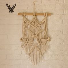 Hand made Macrame wall hanging. Actual size: L:38 W20