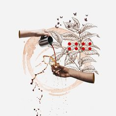 "I'm Marco Vannini ""Mavantri"", a digital collage artist and designer born in Venezuela currently based in Taggia, IT. Coffee Illustration, Collage Illustration, Coffee Drawing, Coffee Poster, Collage Design, Coffee Photography, Collage Artists, Digital Collage, Cute Art"