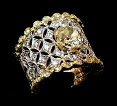 Old Buccellati style .old cut diamond ring by Italian goldsmith Alberto Scarani