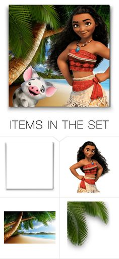 """Moana and her little friend ♥"" by asia-12 ❤ liked on Polyvore featuring art"