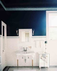 Eight Shades Of Blue In The Bathroom