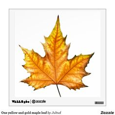 One yellow and gold maple leaf wall sticker.