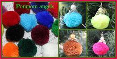 Pompom angel Christmas decorations from SomethingSpecialByFiona.wordpress.com