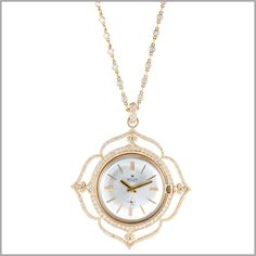This piece was transformed from an old watch into a beautiful pendant.
