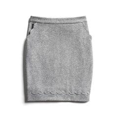 scalloped gray skirt