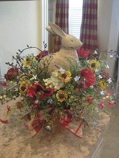 centerpiece...I love Bunnies