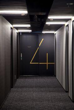 hotel risveglio akasaka / branding + sign design + art: