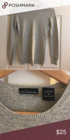 5b24df859cca Shop Women s Moda International Gray size M Tees - Long Sleeve at a  discounted price at Poshmark.