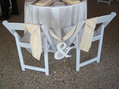 bride and groom chairs Erin and Jason's wedding