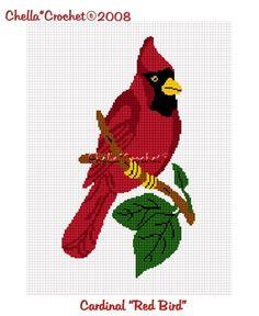 Chella Crochet Cardinal Red Bird Afghan Crochet Pattern Graph. $3.75, via Etsy.