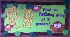 Jungle Themed Back To School Bulletin Board Idea