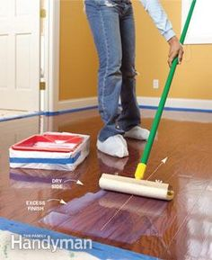 DIY refinishing kit for hardwood floors (no sanding required)