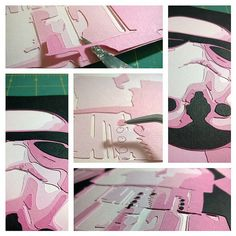 Pink Storm Trooper (work in progress) by Papergizmo