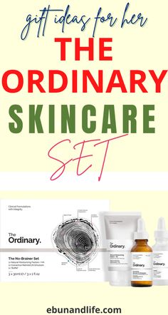 If you are looking for amazing gifts to give out this season, try The Ordinary Skincare Sets. It's cheap and affordable. #theordinaryskincare #giftforher #holidaygiftideas #skincareproducts #bestskincareproducts #beautyproductsthatreallywork