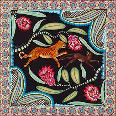 Seidentuch, 100 % Vintage-Seide, handrolliert (70 x 70 cm)