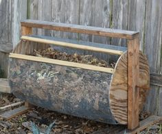 DIY compost drum.  Materials $10-15.  He says it's built for function, NOT aesthetics, but I think it's one of the nicer looking ones out there.